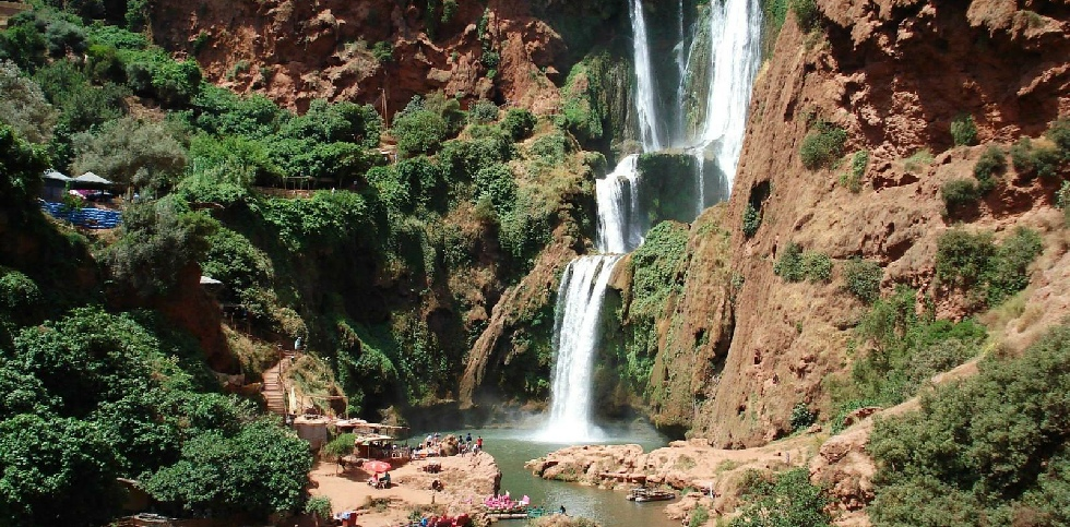 marrakech to ouzoud waterfalls tours bus | ouzoud falls swimming &  | ouzoud falls morocco